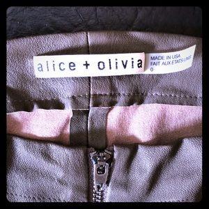 Alice+ Olivia 100% lamb leather pants!!🎉🎉